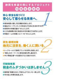 静岡を希望の岡にするプロジェクト10項目の約束 静岡市長選挙候補予定者 田辺のぶひろ